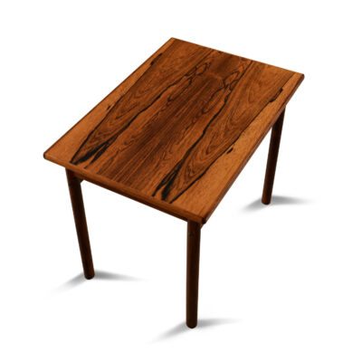 Professionally refinished vintage Danish rosewood side table