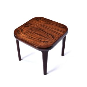 Rounded Square Danish Modern Rosewood End Table