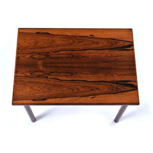 Professionally refinished vintage Danish rosewood side table