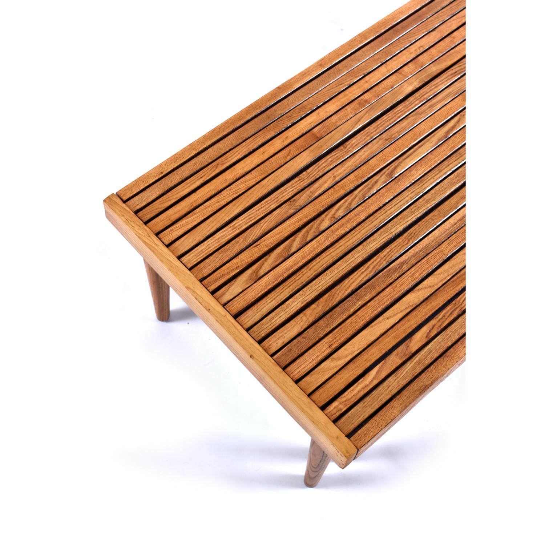 John Lewis & Partners Slatted Oak Wood Bed Tray, 52cm