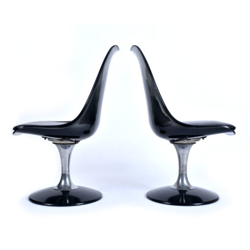 Vintage 1970s Chromcraft smoked Lucite dining chairs
