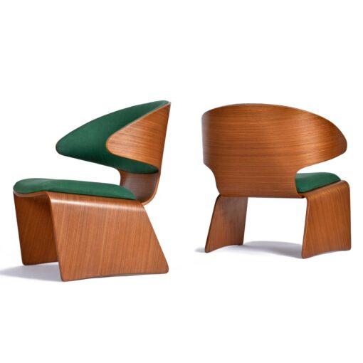 Hans Olsen for Frem Røjle Danish Teak Bikini Chairs
