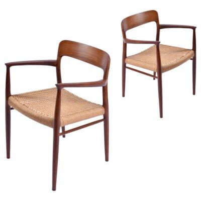 Hans Wegner J.L. Moller roped seat arm chair