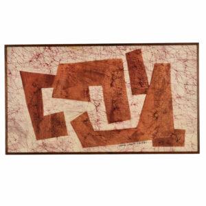 Vintage 1967 Framed Batik Taipei Taiwan Signed Ivang