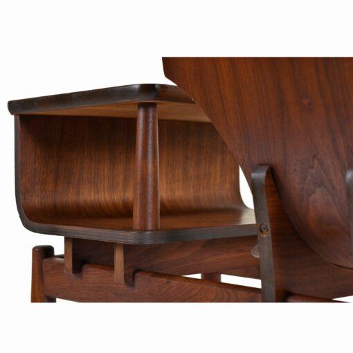 Bent Walnut Plycraft Gossip Bench