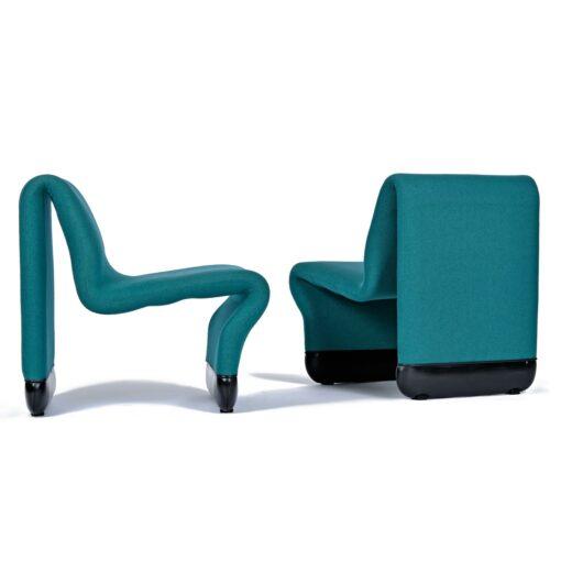 Start Trek TNG Ten Forward Suspension Chairs Set by Paul Boulva for Artopex
