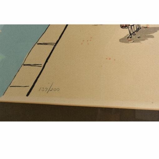 C. Walling Riviera Shore Lithograph