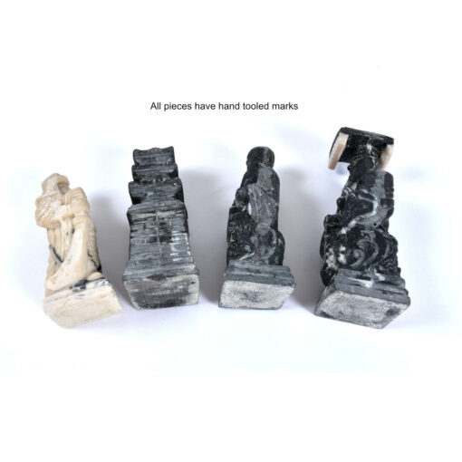 Chinese carved stone resin chess pieces
