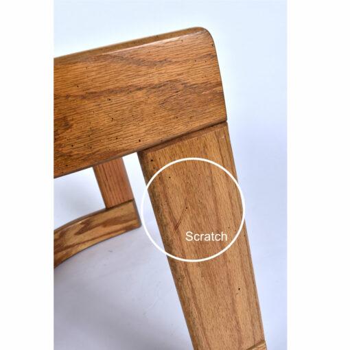 Howard crescent shaped oak end table