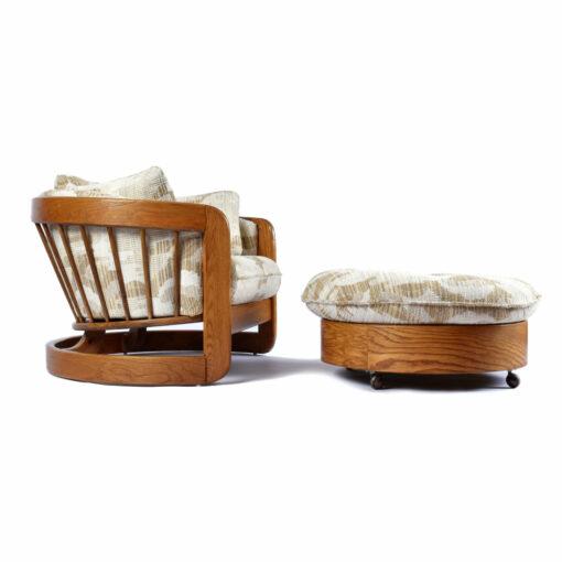 Howard Furniture Barrel Chair Tub Chair with Ottoman