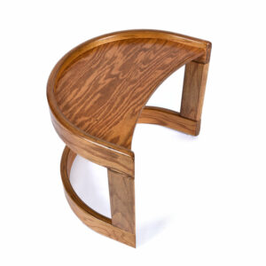 Howard Furniture Solid Oak Crescent Shaped Side Table (2 Available)
