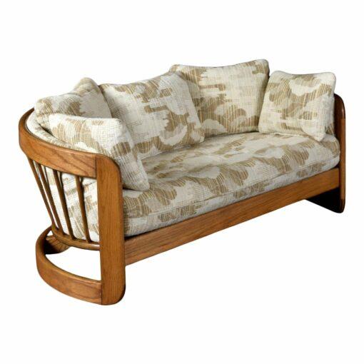 Howard Furniture solid oak half circle loveseat