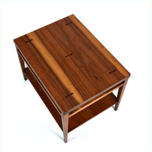 Lane Tuxedo Bow Tie End Table with Walnut and Rosewood
