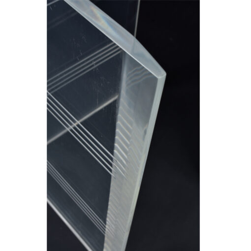 Etched Stripes Lucite Table Bases