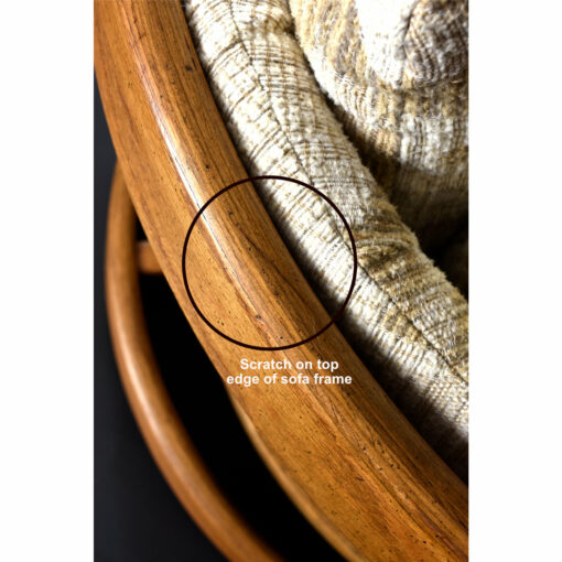 Howard furniture oak barrel shaped loveseat sofa