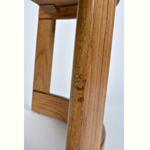 Howard crescent shaped oak end tableHoward crescent shaped oak end table