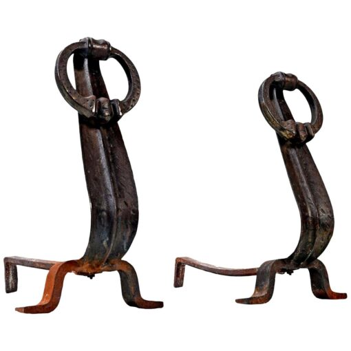 ring fireplace andirons made in Japan