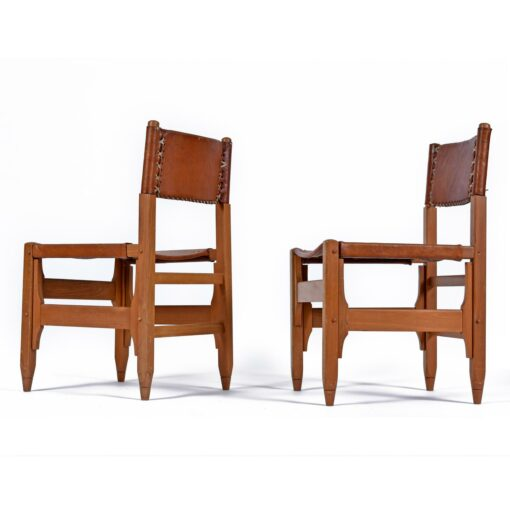 Biermann Werner for Arte Sano Colombian Leather Hunting Chairs