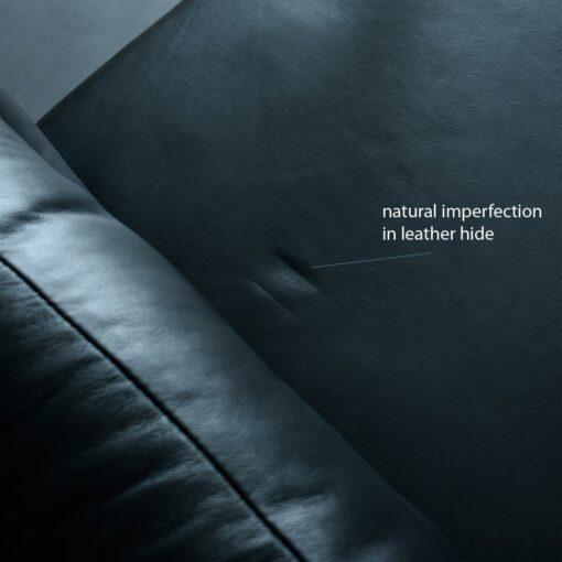 Leather sofa cushion