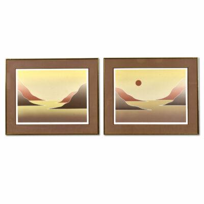 Nineteen-Laties Dean Hayes Landscape silkscreen prints