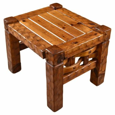 Null rustic solid pine end tables
